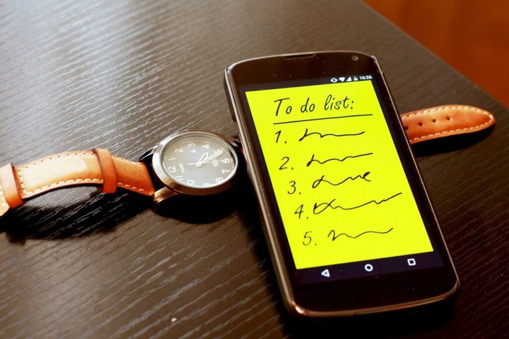 smartphone, to do list, to do