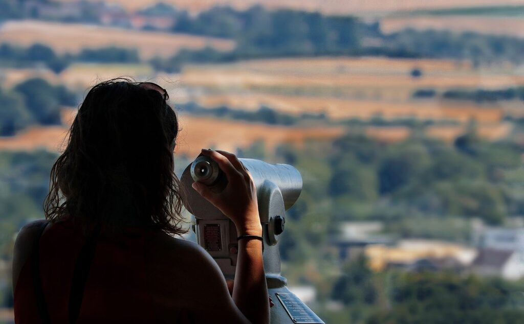 viewpoint, telescope, distant